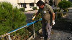 Çöp kenar koruma tamiratları yapıldı