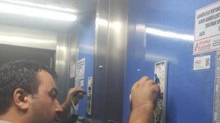 Asansör telefon kontrolü devam ediyor