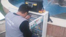 Süs havuzu tamiratı yapıldı