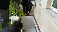 Bina mazgalları temizleniyor