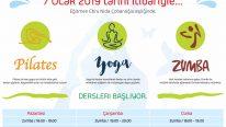 Pilates,Yoga ve Zumba Dersleri Başlıyor