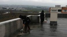 Çatı temizlikleri başlatıldı