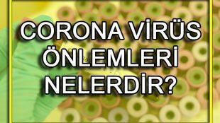 Yeni Koronavirüs Önlemleri